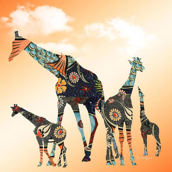 Giraffe Stroll Poster