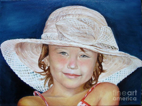 Girl With Hat Poster