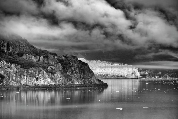 Glacier Bay Alaska In Bw Poster