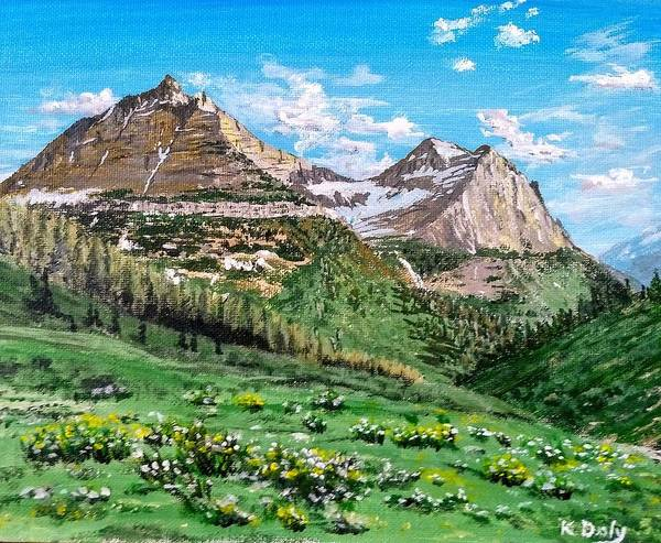Poster featuring the painting Glacier Summer by Kevin Daly