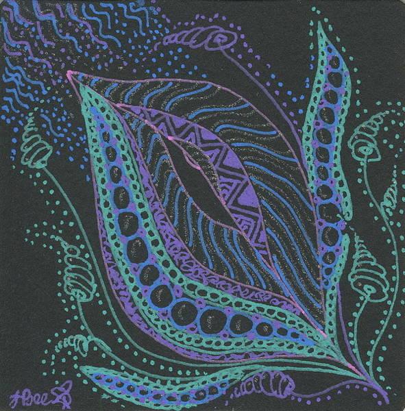 Glitter Flower Poster