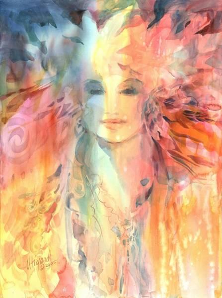 Poster featuring the painting Goddess Of Spiritual Abundance by Carolyn Utigard Thomas