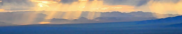 God's Rays Over The Great Basin  Poster