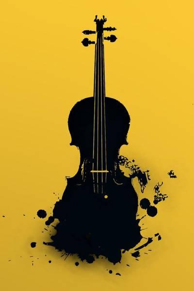 Gold Violin Poster