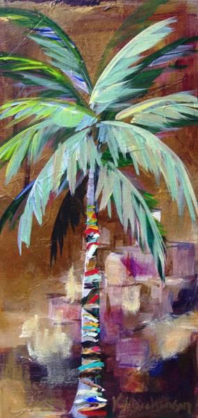 Golden Amethyst Palm Poster