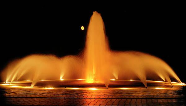 Golden Fountain Poster