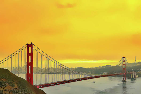 Poster featuring the painting Golden Gate by Harry Warrick