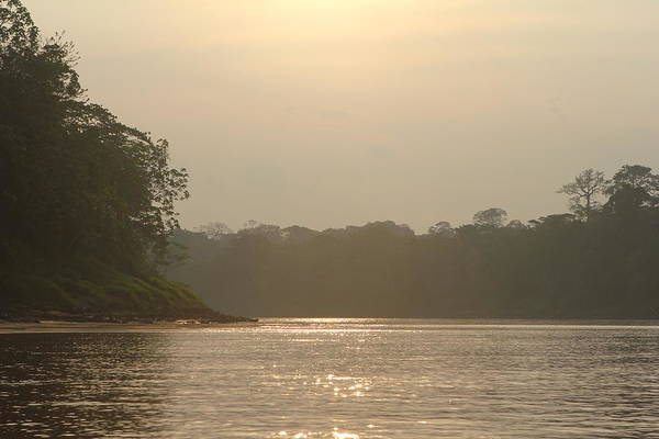 Golden Haze Covering The Amazon River Poster
