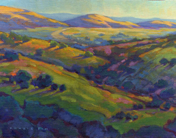 Poster featuring the painting Golden Hills by Konnie Kim