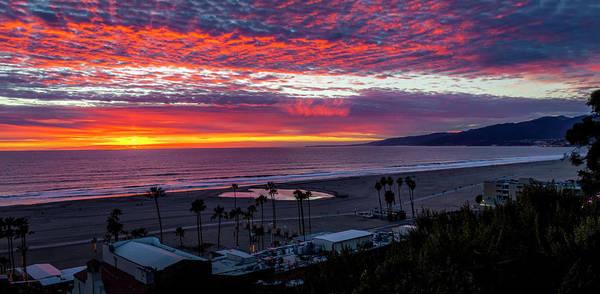 Golden Horizon At Sunset -  Panorama Poster