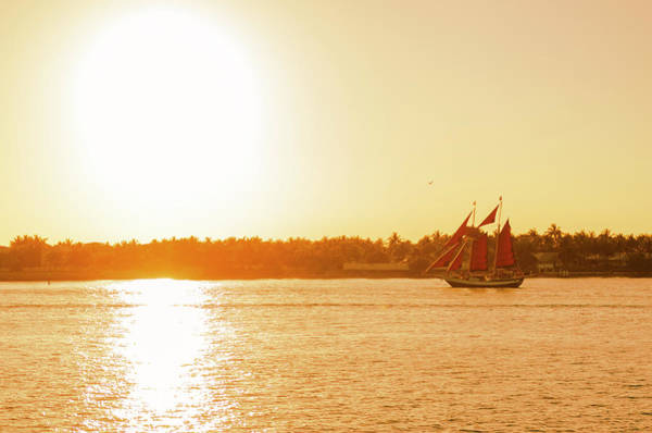 Golden Hour Sailing Ship Poster