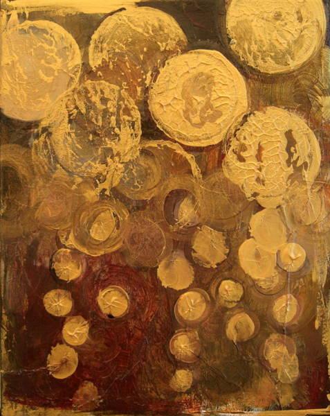 Golden Rain Abstract Poster