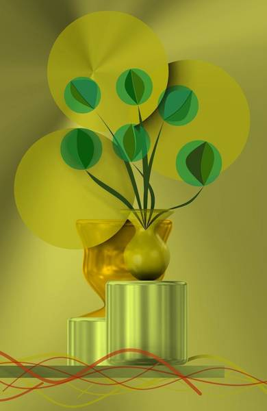 Golden Still Life Poster