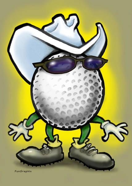 Golf Cowboy Poster