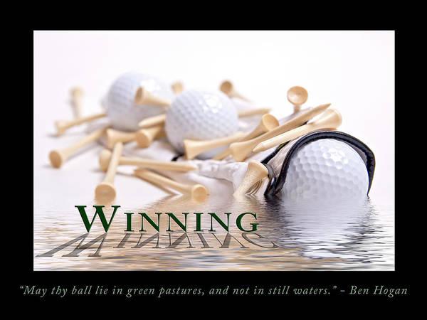 Golf Motivational Poster Poster