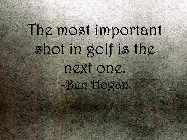 Golf Quote Poster