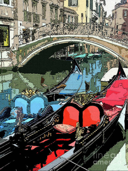 Gondolas Fresco  Poster