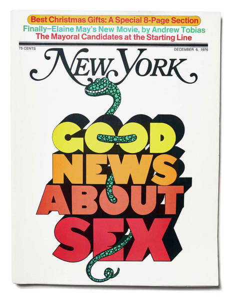 Poster featuring the mixed media Good News About Sex by Milton Glaser