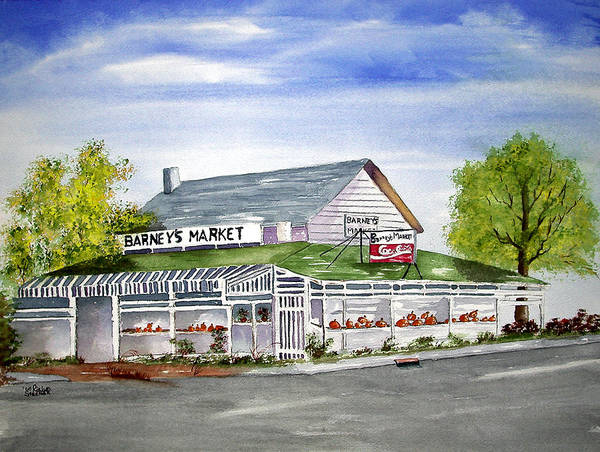 Poster featuring the painting Goodbye Barney's Market by Rich Stedman