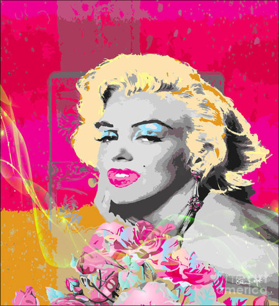 Poster featuring the digital art Goodbye Norma Jean  by Eleni Mac Synodinos