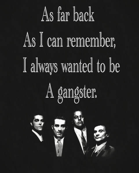 Goodfellas Quote Poster
