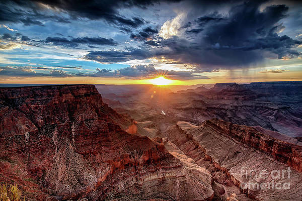 Grand Canyon Sunburst Poster