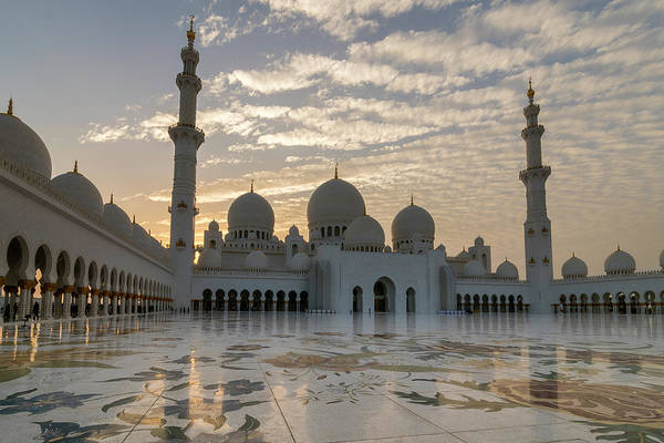 Grand Mosque Sunset Poster