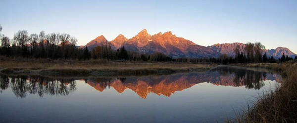 Grand Teton Sunrise Reflection Poster