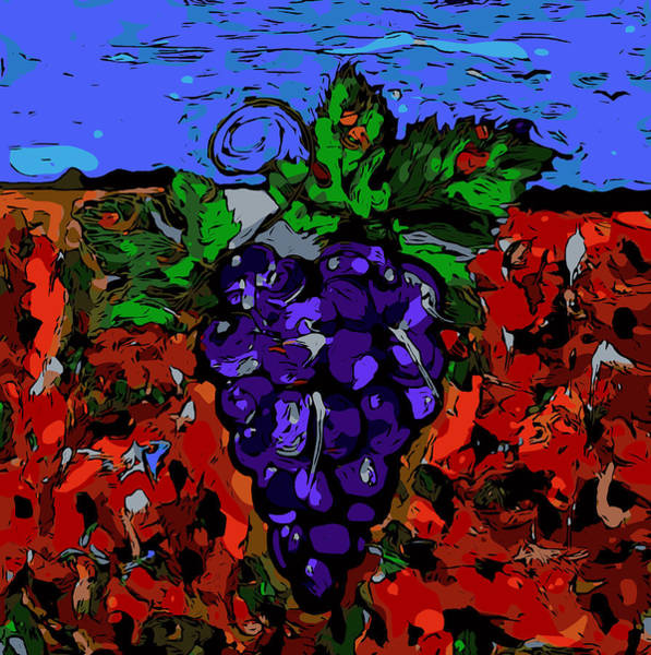 Grape Jazz Digital Poster