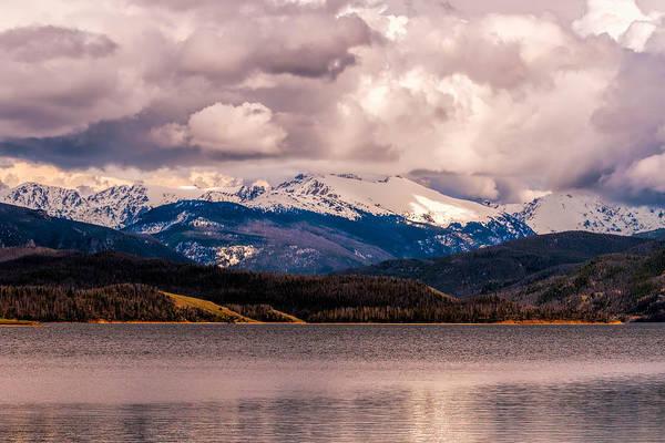 Gray Skies Over Lake Granby Poster