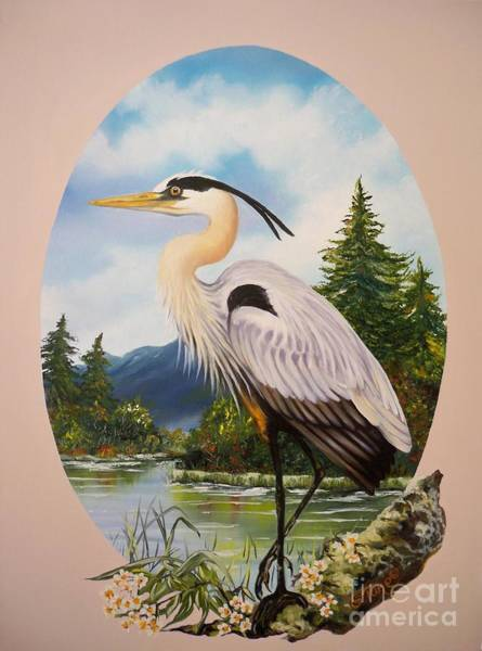 Flying Lamb Productions                 Great Blue Heron Poster