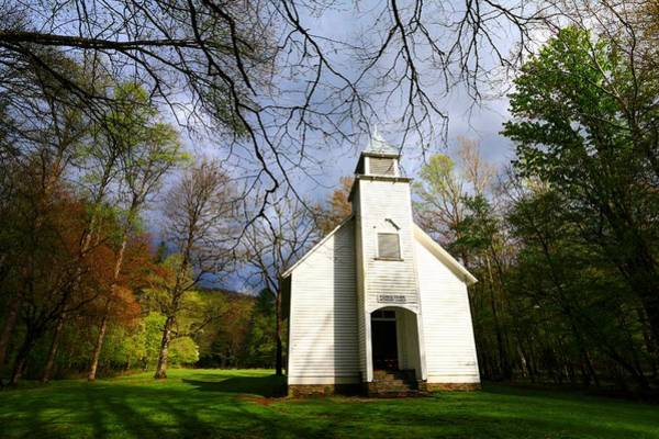 Great Smoky Mountains Spring Storms Over Palmer Chapel  Poster