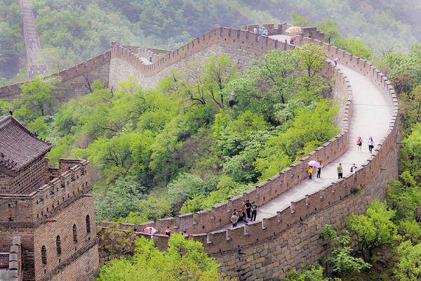 Great Wall At Badaling Poster