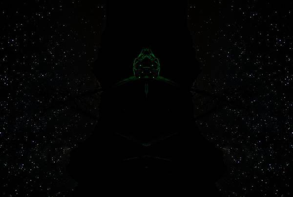 Green Alien Poster