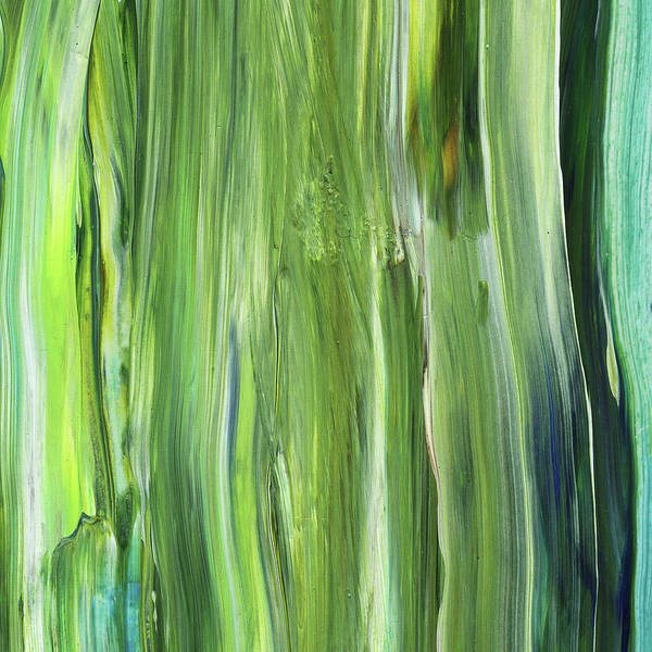 Green Blue Organic Abstract Art For Interior Decor Iv Poster