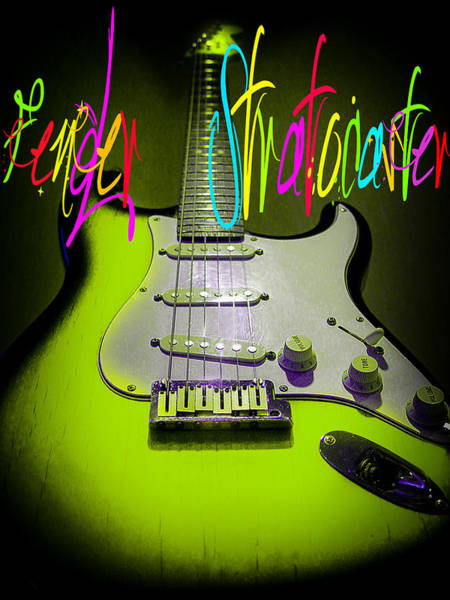 Green Stratocaster Guitar Poster