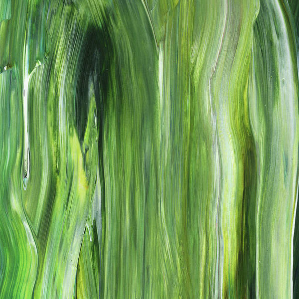 Green Gray Organic Abstract Art For Interior Decor IIi Poster