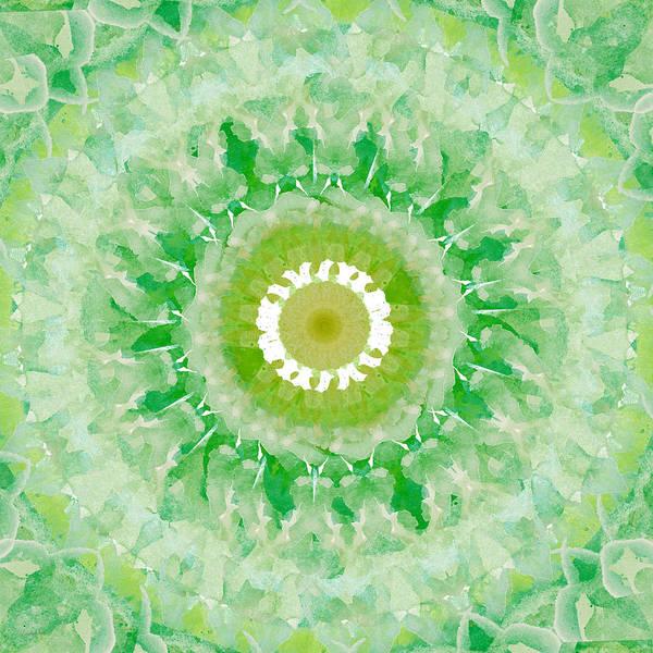 Green Mandala- Abstract Art By Linda Woods Poster