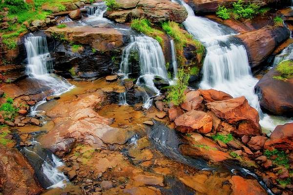 Greenville's Reedy River Falls, South Carolina Poster