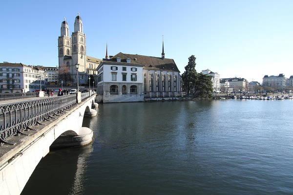 Grossmunster, Wasserkirche And Munsterbrucke - Zurich Poster