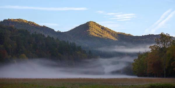 Ground Fog In Cataloochee Valley - October 12 2016 Poster