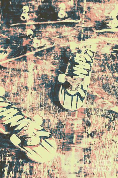 Grunge Skateboard Poster Art Poster