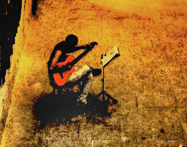 Guitar Player In Arles, France Poster