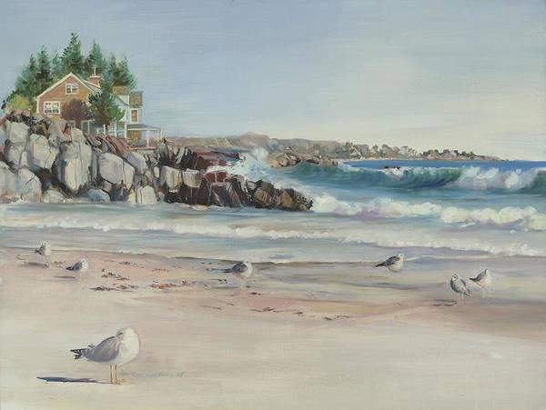 Gulls At Rest Poster