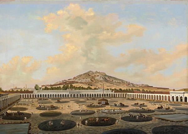 Hacienda Nueva De Fresnillo Con El Cerro De Proano Zacatecas Mexico Poster