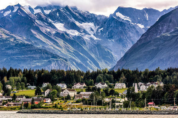 Haines, Alaska Surrounded In Mountains Poster
