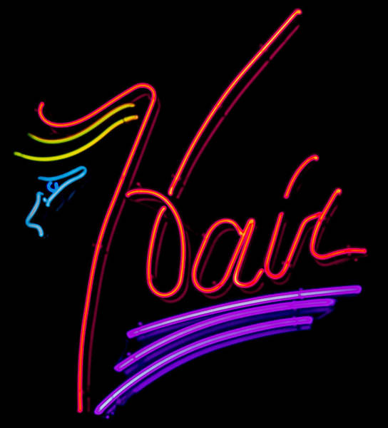 Hair In Neon Poster
