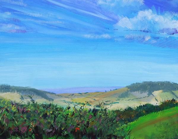 Haldon Hills Sea View Poster