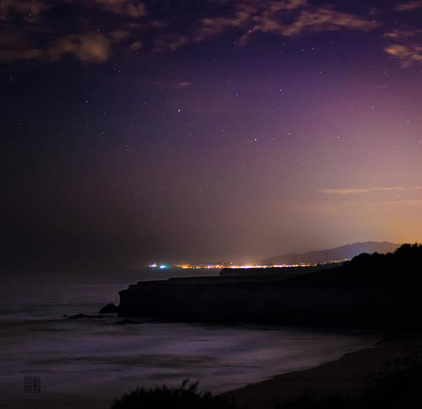 Half Moon Bay Aglow Poster