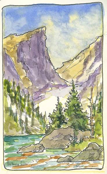 Hallett's Peak Poster